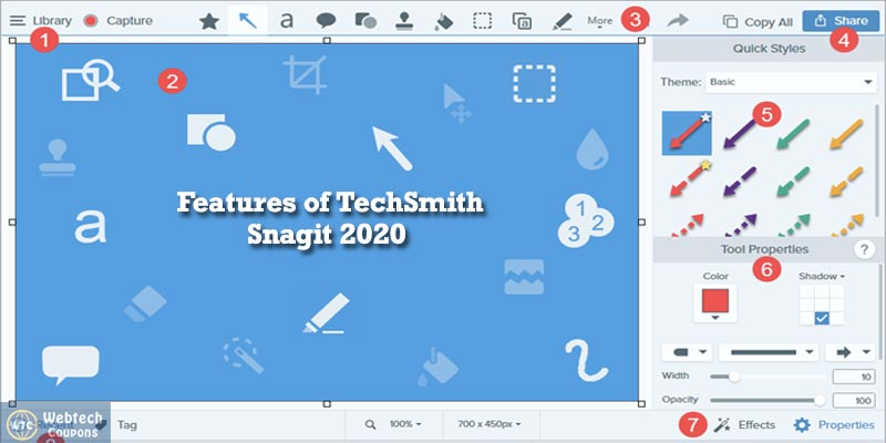 Features of Snagit 2020