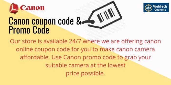 Canon Promo Codes