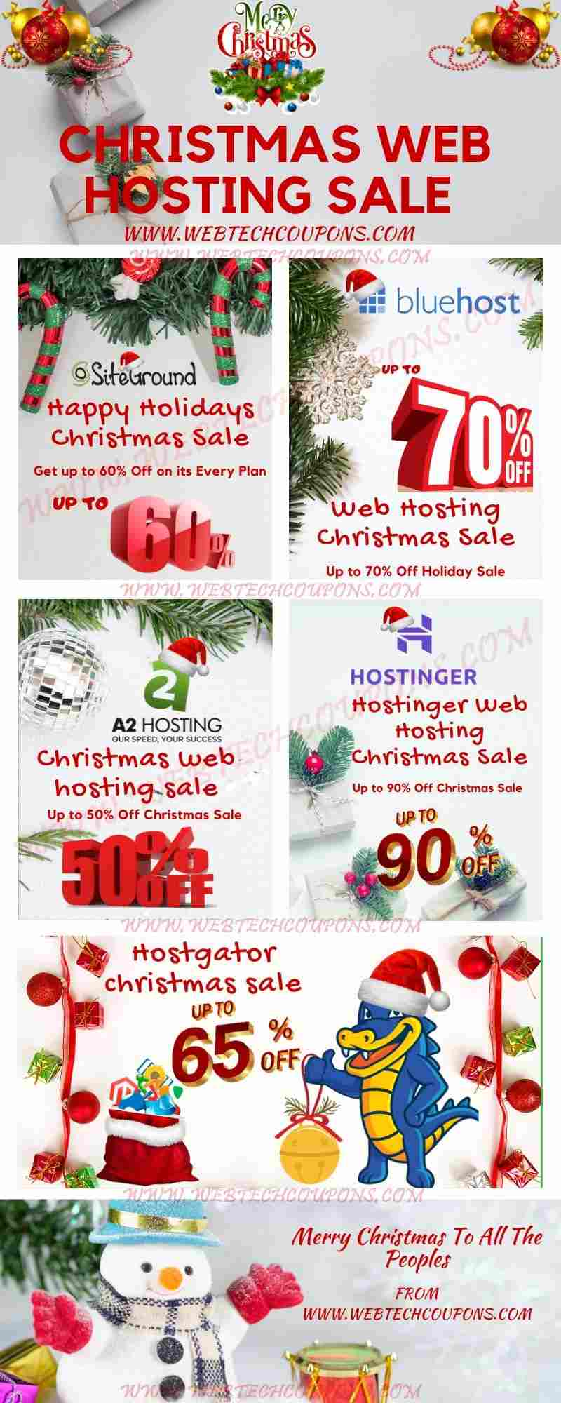 Christmas Hosting discount Sale