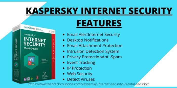 Kaspersky Total VS Internet Security- Internet Features