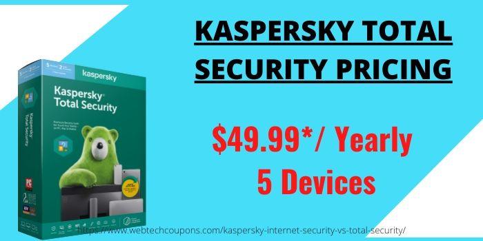 Kaspersky Total VS Internet Security- Total Pricing