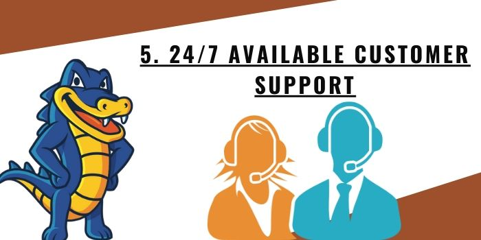 5. 247 Available Customer Support