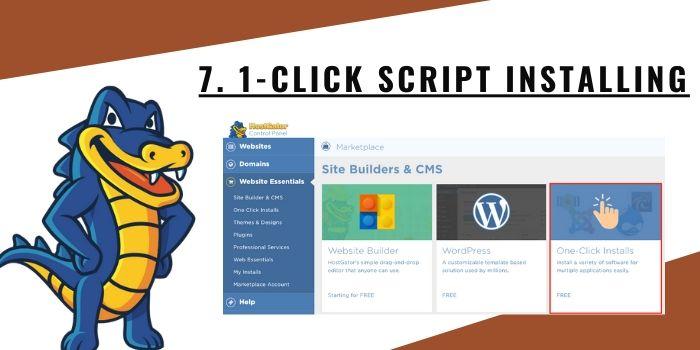 7. 1-click Script Installing