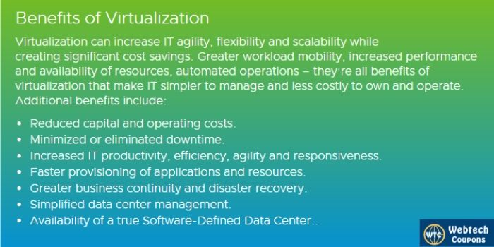Advantages of VMware