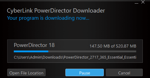 free verison file size of powerdirector
