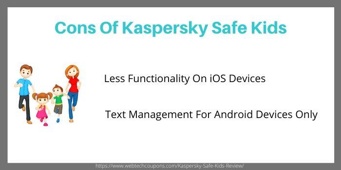 Down side of kaspersky safekids