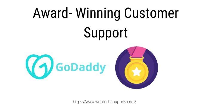 Godaddy deluxe hosting award winning customer support