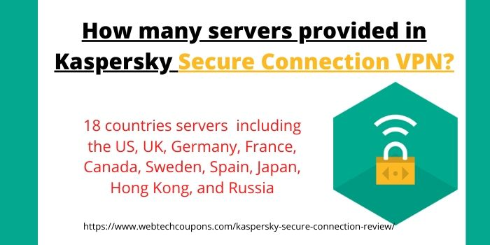 How many servers provided in Kaspersky Secure Connection VPN