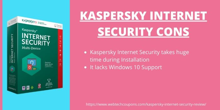 Kaspersky Internet Security Review 2020- Cons