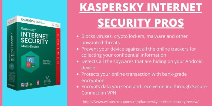 Kaspersky Internet Security Review 2020- Pros