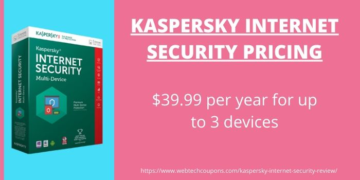 Kaspersky Internet Security Review- Pricing