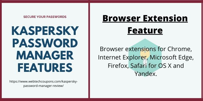 Kaspersky Password Manager Browser Extension Feature