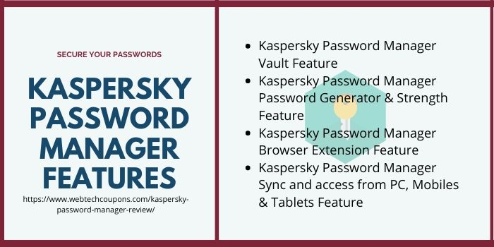 Kaspersky Password Manager Review 2020- Features