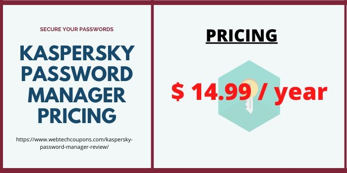 Kaspersky Password Manager Review- Pricing