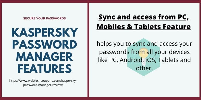 Kaspersky Password Manager Sync & Access Feature