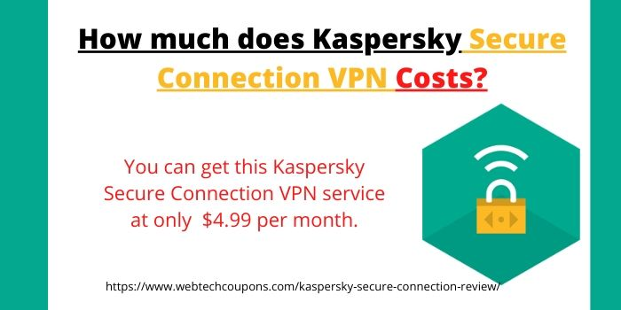 Kaspersky Secure Connection Review- How much does Kaspersky Secure Connection Costs