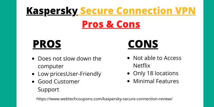 Kaspersky Secure Connection Review -Pros & Cons