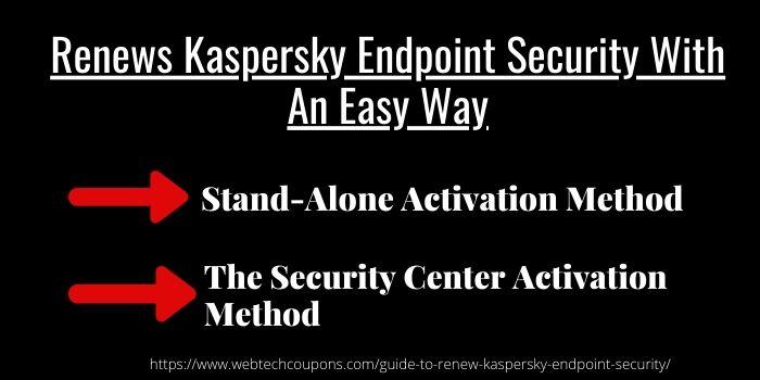 Renew Kaspersky Endpoint Security
