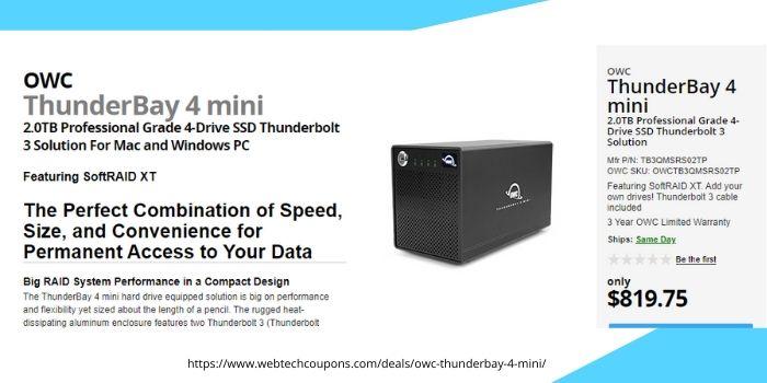 OWC ThunderBay 4 mini
