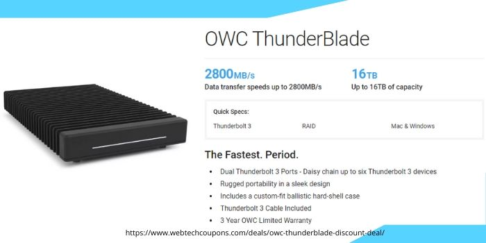 OWC ThunderBlade Discount Deal