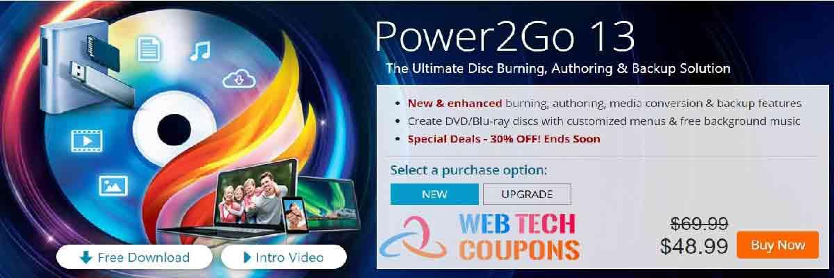 Power2Go 13 coupon code