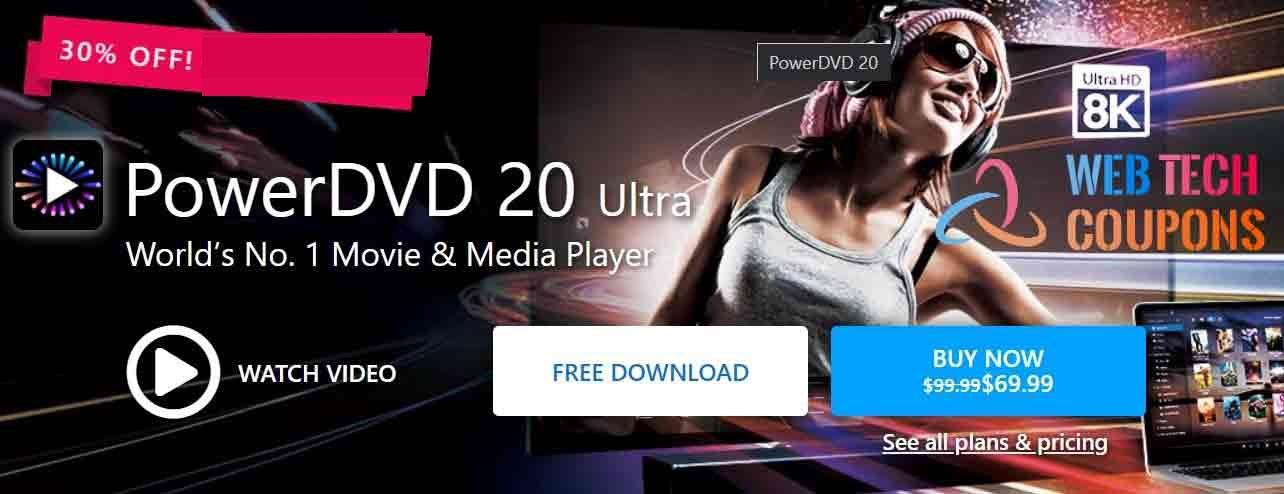 PowerDVD 20 Coupon Code