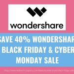 WONDERSHARE BLACK FRIDAY & CYBER MONDAY SALE