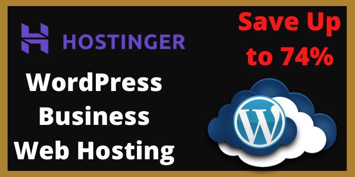 WordPress Business Web hosting