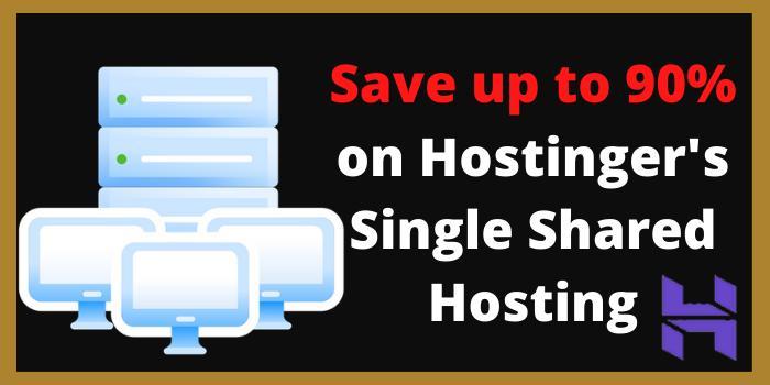 single shared hosting