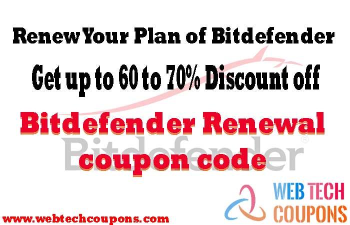 Bitdefender Renewal coupon code
