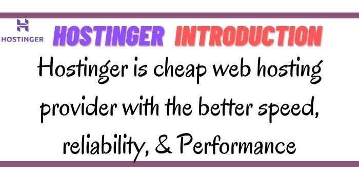 Hostinger Introduction