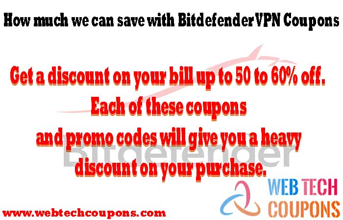 How you can save with Bitdefender VPN Coupons