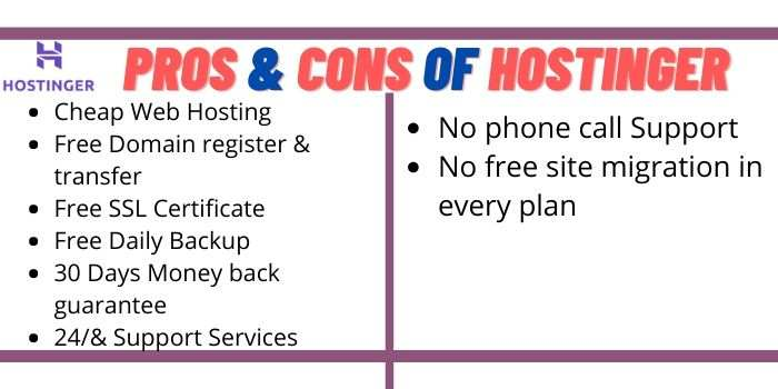 Pros & cons of Hostinger