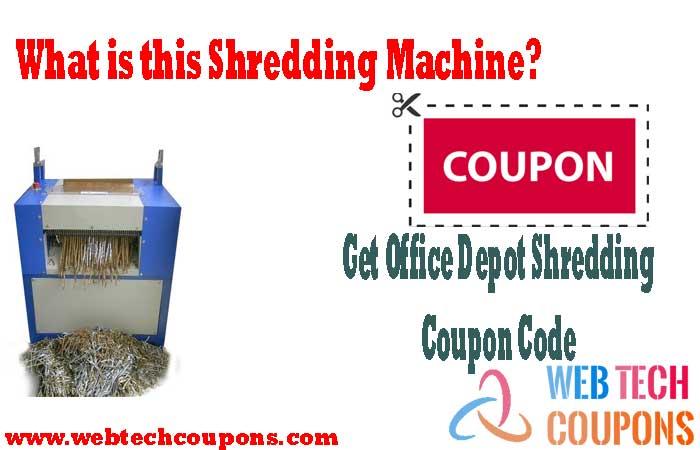 Shredding Machine coupon