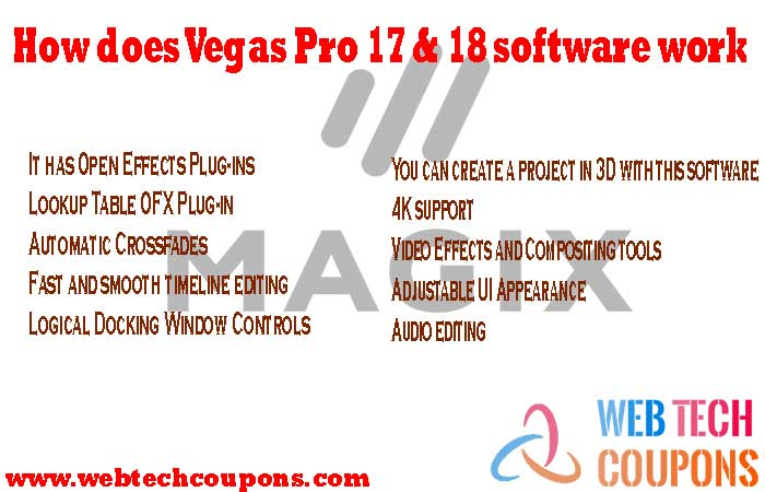 How does Vegas Pro 17 & 18 software work