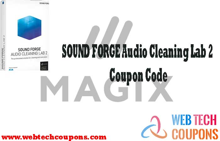 SOUND FORGE Audio Cleaning Lab 2 Coupon Code