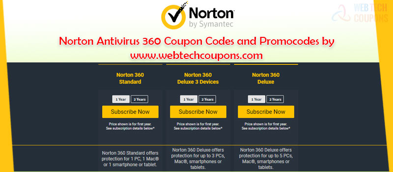 Norton 360 Coupon Codes and Offers
