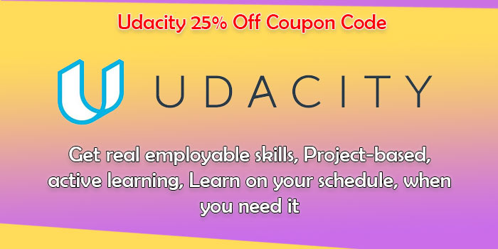 udacity 25 off discount on courses