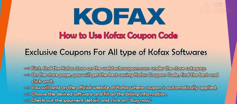 How to use kofax coupons
