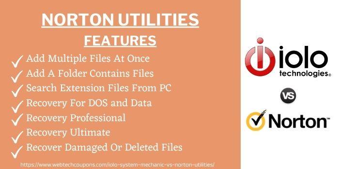 Norton utilities features