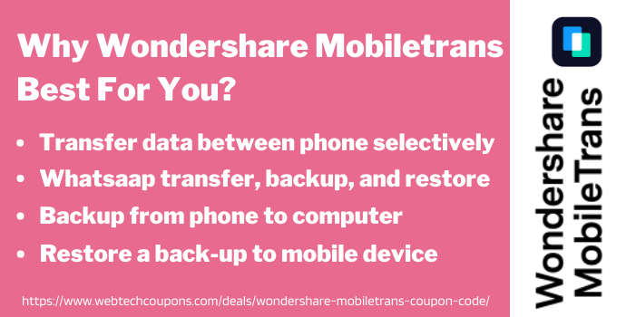 Why Wondershare Mobiletrans Best For You