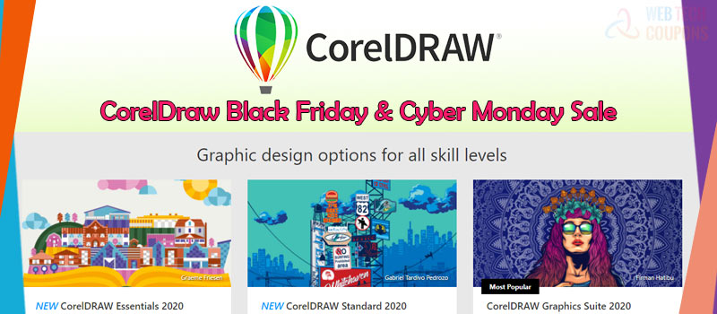 coreldraw black friday and cyber monday sales