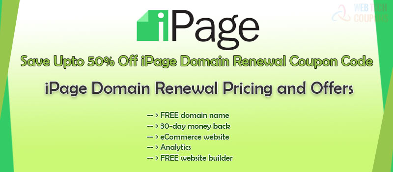 ipage domain renewal and pricing
