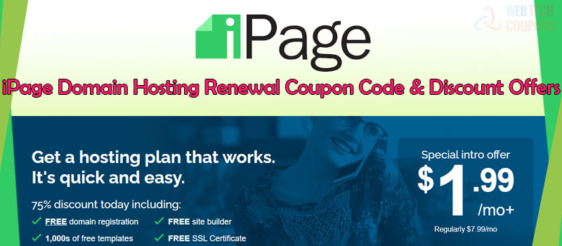 ipage hosting renewal coupon code and offers