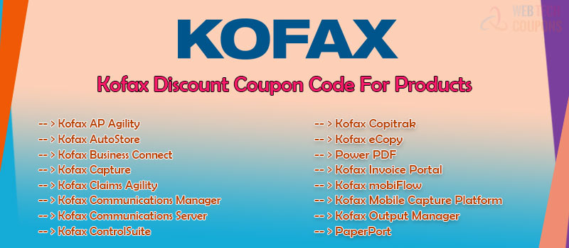 kofax discount codes and offers