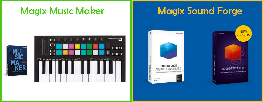 magix music maker vs sound forge