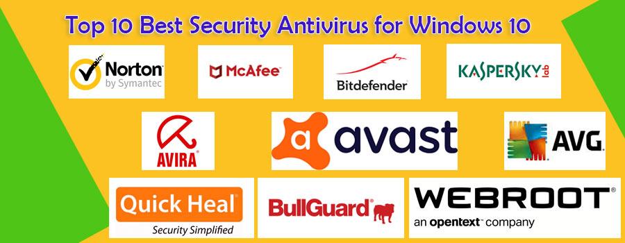 top 10 antivirus for windows