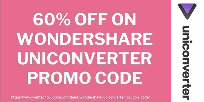 wonderhsare uniconverter discount code