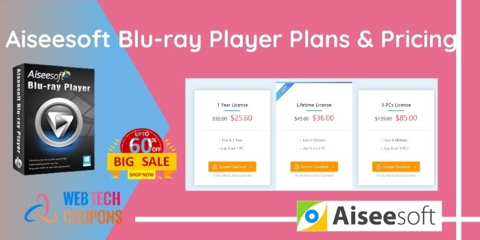 Aiseesoft Blu-ray Player Pricing