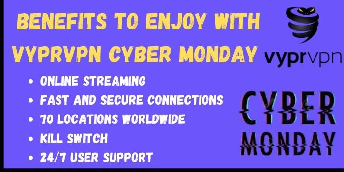Benefits to enjoy with VyprBlack Cyber Monday